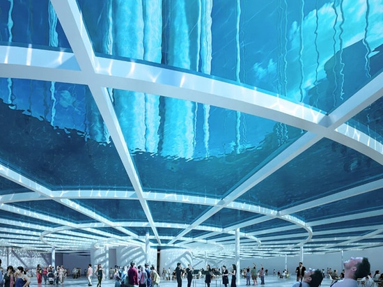"La torre eterea di Sou Fujimoto vedrà 99 ""isole"" galleggiare sulla baia Qianhai di Shenzhen"