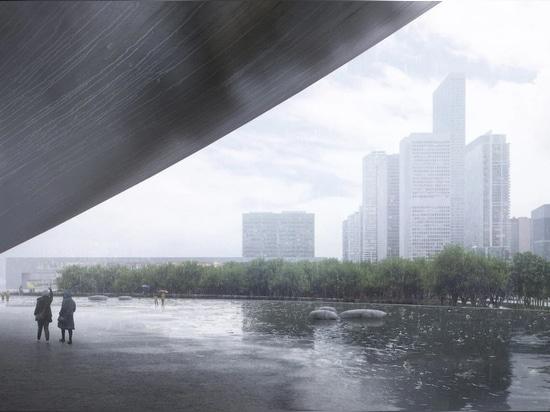 """Snøhetta propone """"lunare"""", un punto di riferimento dell'era dei dati per la baia Qianhai di Shenzhen"""