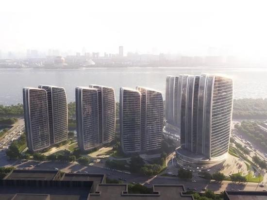"Aedas introduce il suo punto di riferimento ""Guanyun Qiantang city"" nel cuore di Hangzhou"
