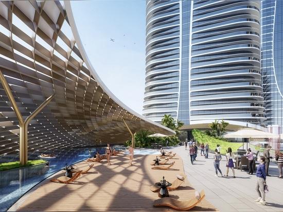 Aedas immagina geometrie morbide e fluide per progettare la sua torre Zhanjiang Yunhai