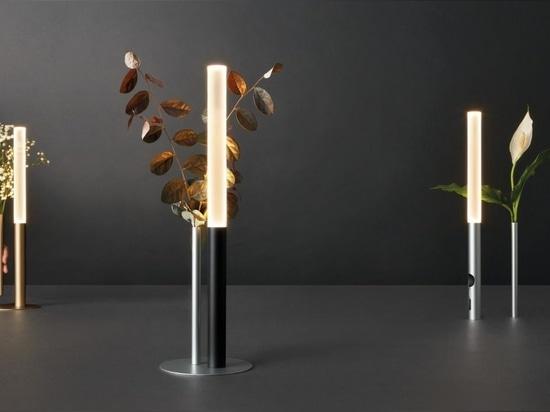 Lampada e vaso Ognidov disegnati da Luta Bettonica e Giancarlo Leone per Cini & Nils.