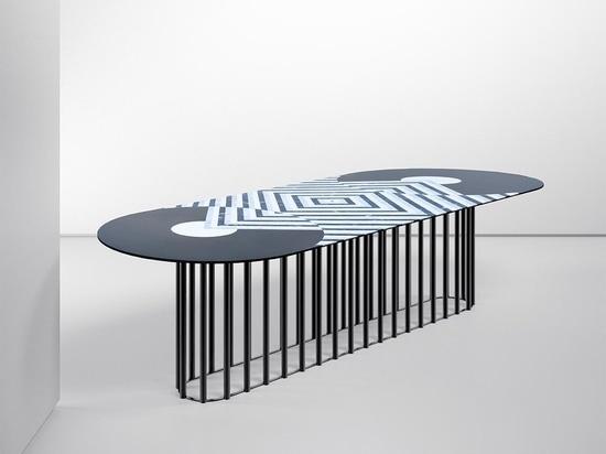 Tavolo Phoebe disegnato da Eleonora Castagnetta per Testi Group.