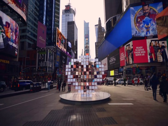 """L'abbagliante """"Heart Squared"""" dello Studio MODU + Eric Forman arriva a Times Square"""