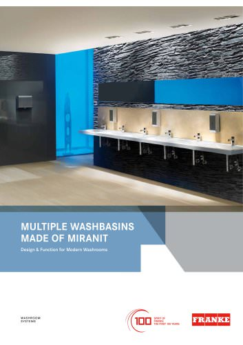 Multiple Washbasins made of MIRANIT