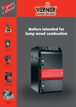 Boilers intended for lump wood combustion