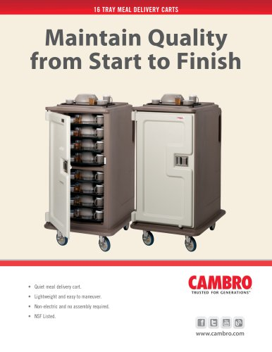 16 TRAY MEAL DELIVERY CARTS