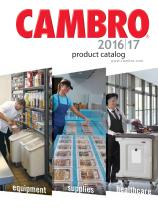 CAMBRO 2016/17 Product catalog