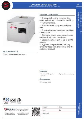 CUTLERY DRYER SAM-3001