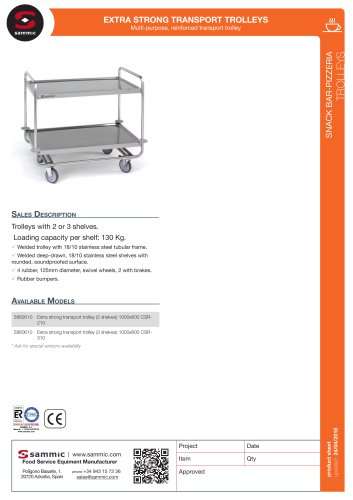 Extra strong transport trolleys