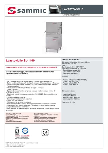 Laastoviglie SL-1100