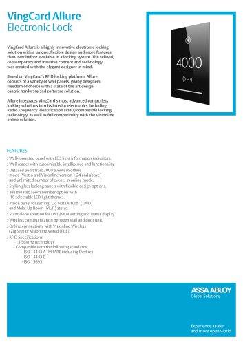 VingCard Allure Electronic Lock