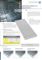 Stainless steel and aluminium gratings