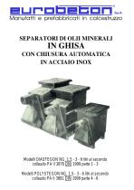 Separatori olii minerali in ghisa