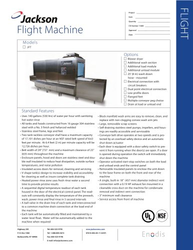 JFT Flight Machine   Rackless Conveyor - Electric or Steam