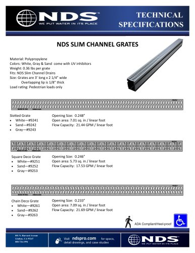 NDS SLIM CHANNEL GRATES