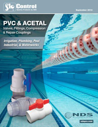 PVC & ACETAL Valves, Fittings, Compression & Repair Couplings