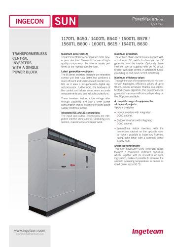 INGECON SUN PowerMax B 1500V Series - Indoor/Outdoor