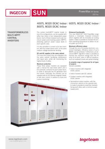 INGECON SUN PowerMax M320 DCAC Indoor