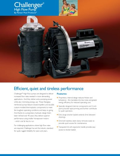 Challenger® High Flow Pumps