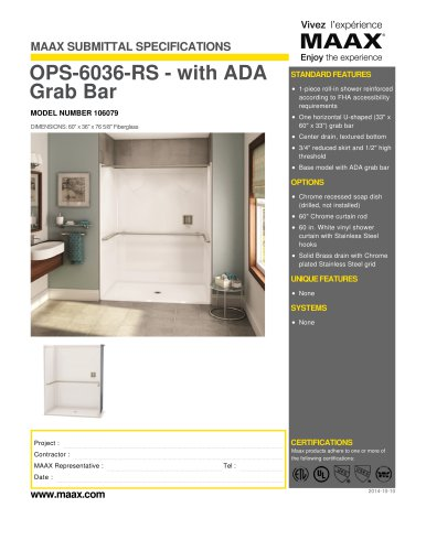 OPS-6036-RS - with ADA Grab Bar