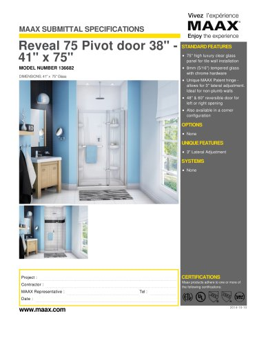 Reveal 75 Pivot door 38