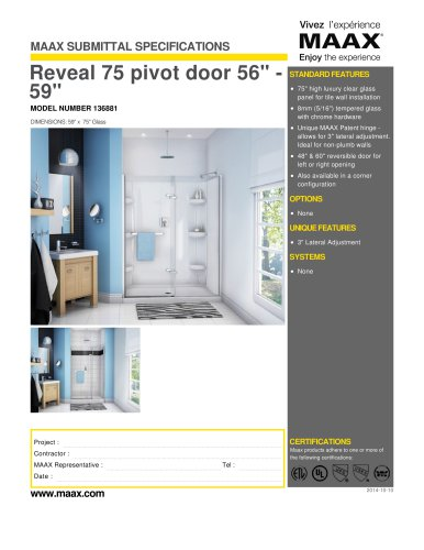 Reveal 75 pivot door 56
