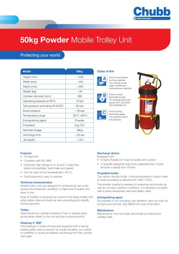 50kg Powder Mobile Trolley Unit