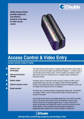 Access Control & Video Entry
