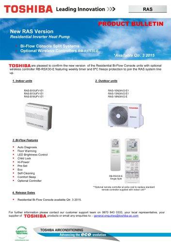RAS Residential Bi Flow Console