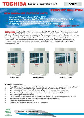SMMSe VRF outdoor units