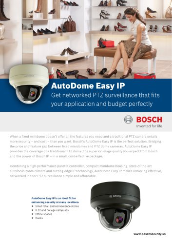 AutoDome Easy IP Compact PTZ Camera