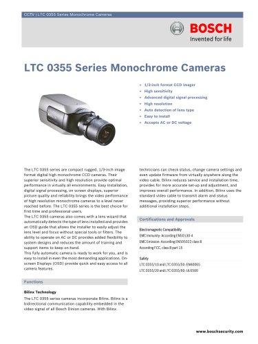 LTC 0355 Series Monochrome Cameras