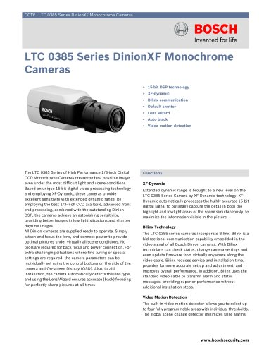 LTC 0385 Series DinionXF Monochrome Cameras
