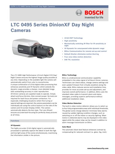 LTC 0495 Series DinionXF Day/Night Cameras