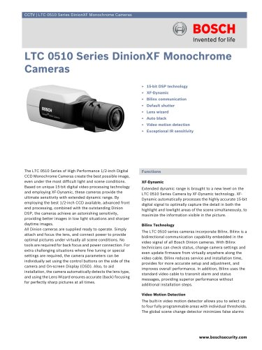 LTC 0510 Series DinionXF Monochrome Cameras