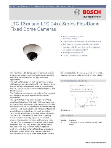 LTC 13xx and LTC 14xx Series FlexiDome Fixed Dome Cameras