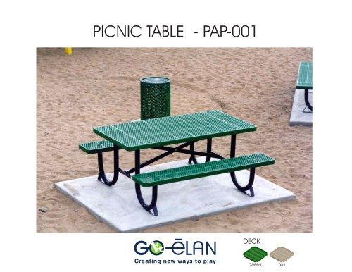 PICNIC TABLE - PAP-001