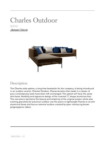 Charles Outdoor sofas