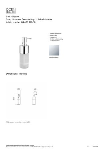 Soap dispenser freestanding - polished chrome