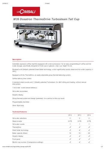 M39 Dosatron ThermoDrive Turbosteam Tall Cup
