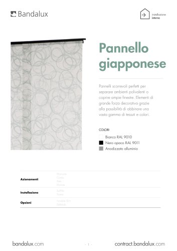 Pannello giapponese