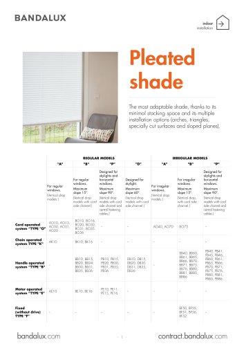 Pleated shade
