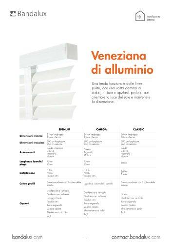 Tende veneziane di alluminio