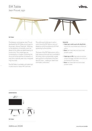 EM Table Factsheet