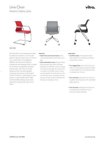 Unix Chair Factsheet
