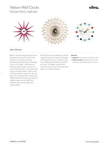 Wall Clocks Factsheet