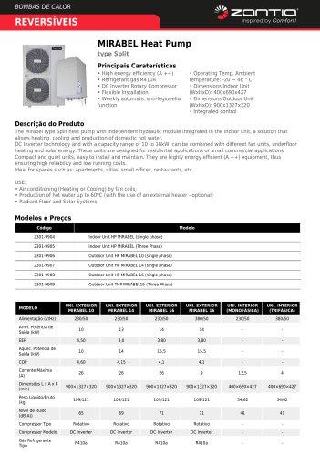 MIRABEL Heat Pump