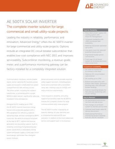 AE 500TX SOLAR INVERTER