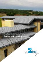 Roofing system double lock standing seam