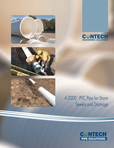 A-2000™ PVC Pipe for Storm Sewers and Drainage